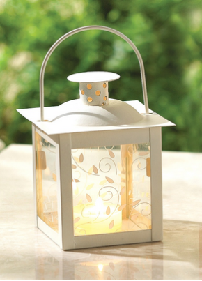 Ivory Color Glass Lantern