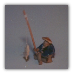 Man Fishing (with fish) Ceramic Figurine - 1""