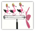 Dancing Flamingo Whirligig