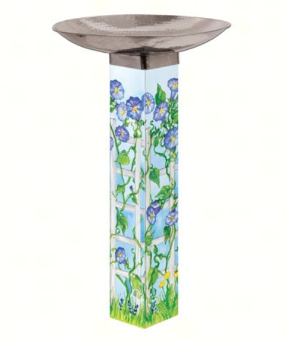 Watercolor Birdbath