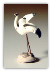 Ceramic Crane Figurine (small) - 1""
