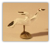 Ceramic Crane Figurine - 1 1/2""